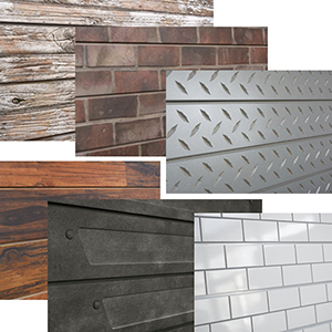 3D Textured Slatwall Panels