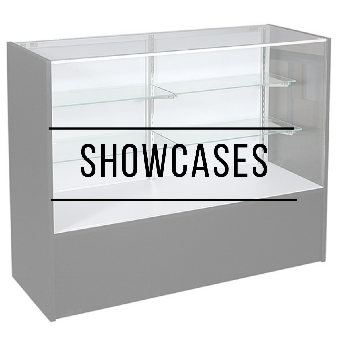 Showcases from small, medium, and tall display your Hawaii products.