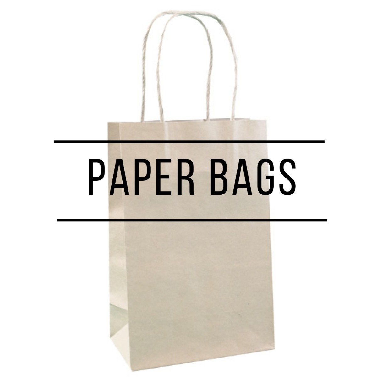 Paper bags in hawaii in multiple solid colors, ranging from Kraft to Laminated European Tote Style Bags.